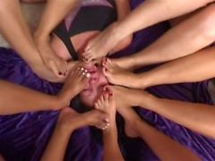 5 Brazilian Girls Feet Gang part 2 - Multi Trample