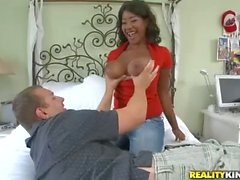 Kendra Lee in some interracial titty fucking
