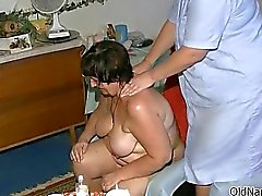 Busty mature slut gets horny