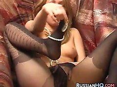 Russian Teen In Black Pantyhose