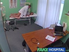 FAkeHospital Innocent red head gets creampie prescription