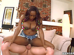Jada Fire with large ass spends time fucking jerking wang with her hands