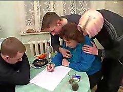 Granny russo com 3 meninos 206