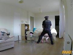 Sahte Polis Slut onu düz polis tarafından gets