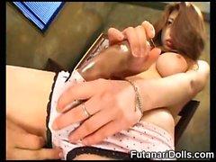 Futanari Babes Stroke and Cum!