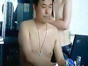 Chinese på basar tycker om sekreteraren knullar att andra ska visa
