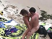 Warm butt brunette slut captured driving dick about the sea