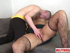Big ass milf oral and cum on tits