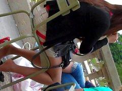 Откровенный Ноги Shoeplay Сидящая Dipping Pantyhose Нейлоны