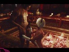 Golpeando 2B en Skyrim (Nier Automata x Skyrim)