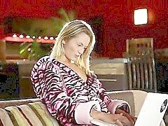 seductive blonde making luxury tease