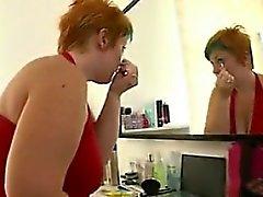 Fat Redhead Masturbating