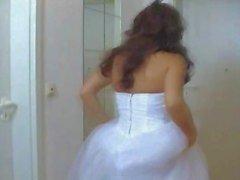Девушки в подвенечном платье выебанная жесткий