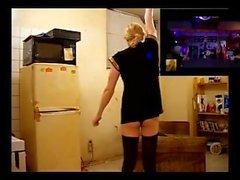 Shemale stripper going BERZERK!