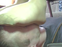 pantyhose in face