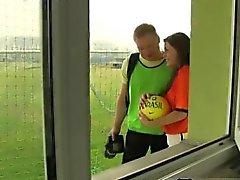 Adolescente muchacho filipinos cum chorros futbolista holandesa clavado por