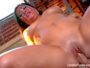 Sensual tease and fucking with London Keyes