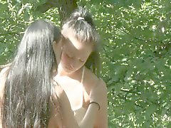açık hava seksi çekimler genç Lezbiyen