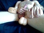 Sexy Парень Штрихи член ж / 3 кармана киски , COCKRING , первый раз анальная игрушки