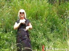 blonde goth babes bbw flashing and outdoor exhibit