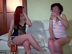 Skinny lesbian wrinkled grannies fucking