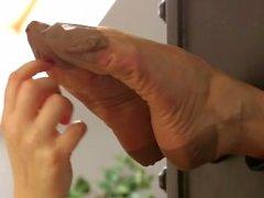 Sensual Nylon Feet Tickling w/Lida & Jane