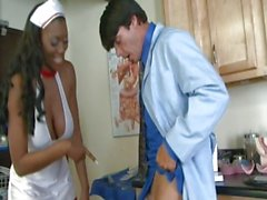 Nyomi Banxxx looks hot in her nurses outfit and even hotter without it