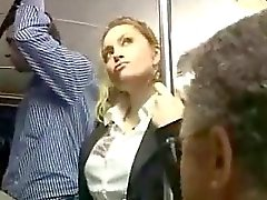 Sexy Blonde Girl Abused At Bus