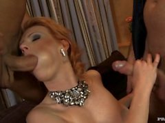 Tarra White Gets Her Booty Spanked While Giving a Blowjob until Her DP