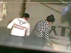 Voyeur tapes a couple having sex on the patio