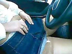 Alemães Mamas Esposa piscando no carro