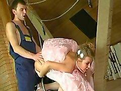 Novia antes de la de boda ano