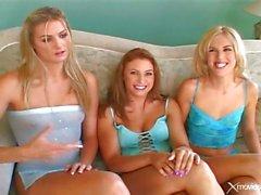Çift musluk ve üç kız sıcak