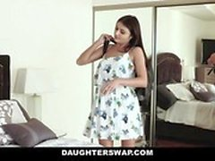 DaughterSwap Teen cam girl fucked by best friends dad
