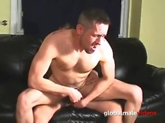 Guy Eating Cum From a Big Cock Gets Fucked Up the Ass