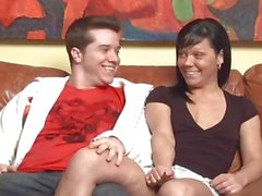 Passionate couple show the camera how much they love each other