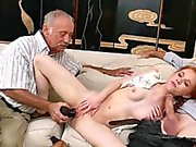 Dolly Little banged by old man who has taken viagra