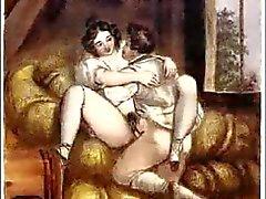 Erotiska Biedermeier Stål gravyrer - Johann Nepomunk Geiger