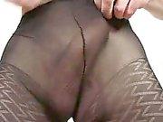 Incredible twink boy Clark having fun in pantyhose
