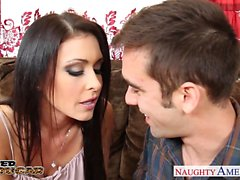 Busty cougar Jessica Jaymes gets facialized