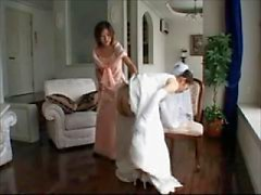 wedding dress spanking