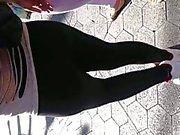 Mexican white thong see thru leggings 2
