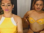 Exotic Shemale Duo Play Cock and Ass