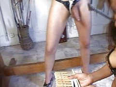 Shemale bondage spanking fun
