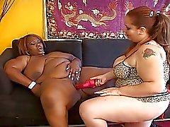 Phenomenal lesbian fat hustlers nasty pussy session
