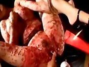 Грудастые азиатских Arms привязанные к Legs киска выебанная с Вибраторы то время пытке Hotwax с помощью мастер В цокольном