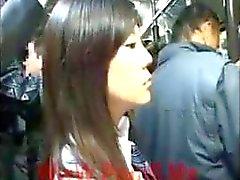 [ Japan Porr ] offentlig Blowjob On Buss 01