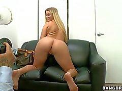 Curvilicious blonde newbie Katie Banks