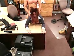 Busty latina Milf sells her husbands stuff for a bail