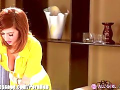 AllGirlMassage Dillion Harper and April O'Neil Scissor